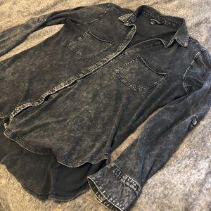 Tops - Rock & Republic Black Button Up Blouse